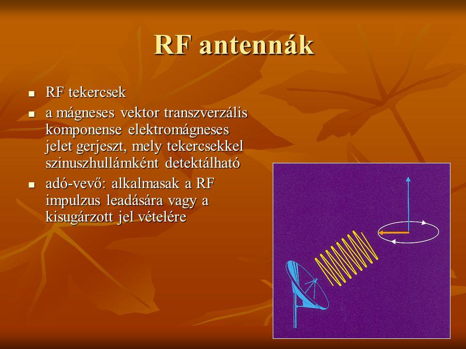 RF antennák RF tekercsek