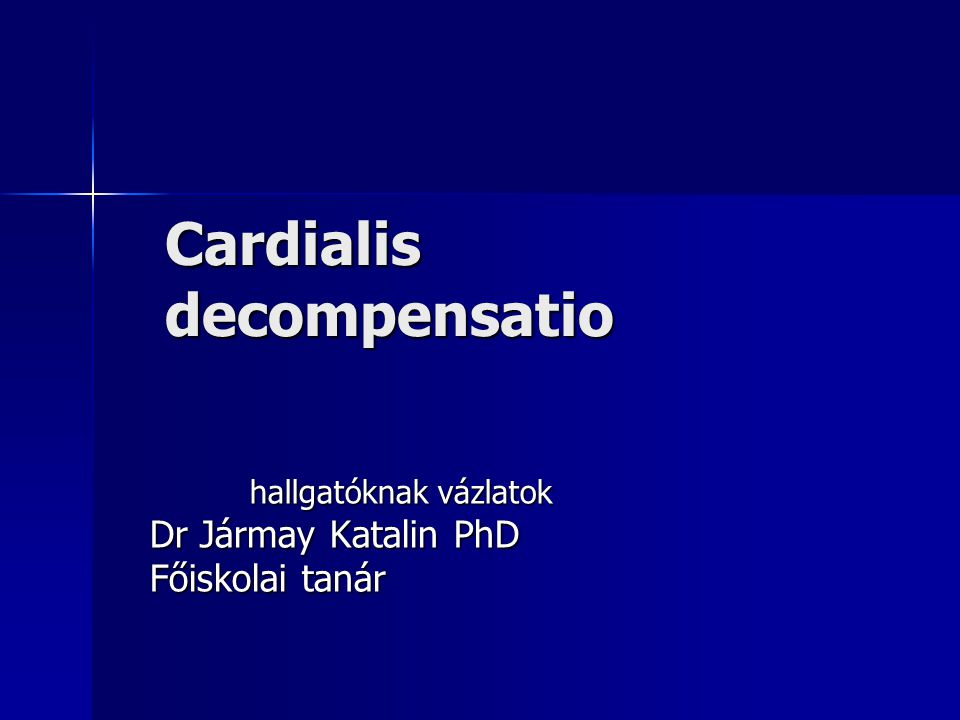 Cardialis decompensatio