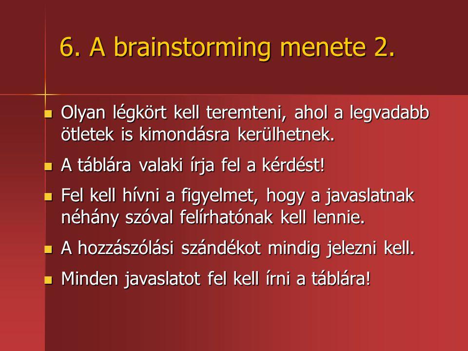 6. A brainstorming menete 2.