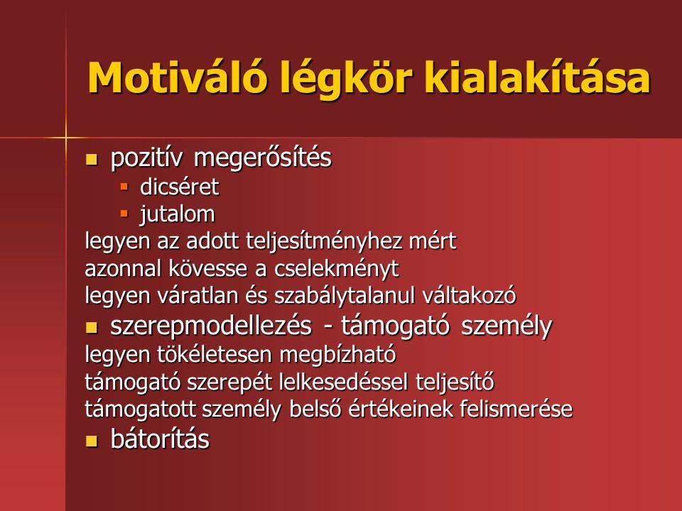 Motiváló légkör kialakítása