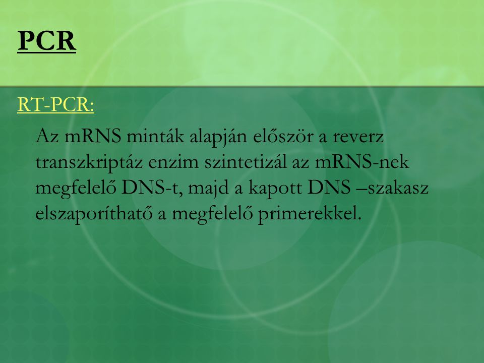 PCR RT-PCR: