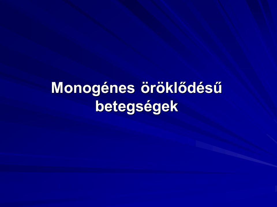 Monogénes öröklődésű betegségek