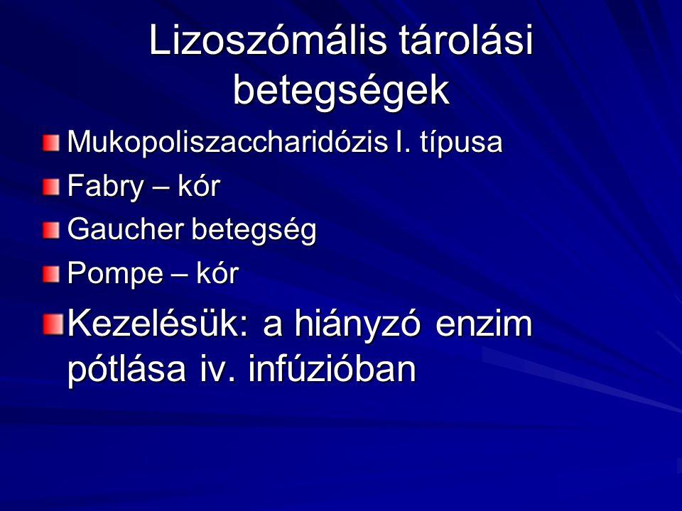 Lizoszómális tárolási betegségek