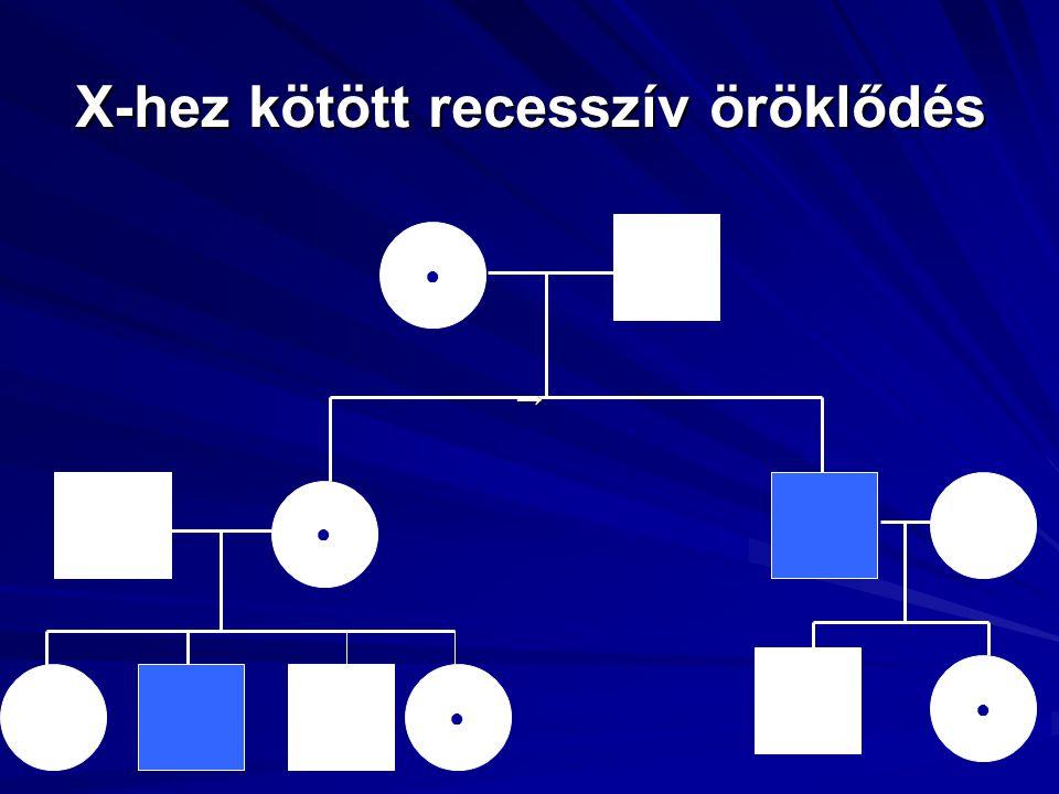 X-hez kötött recesszív öröklődés