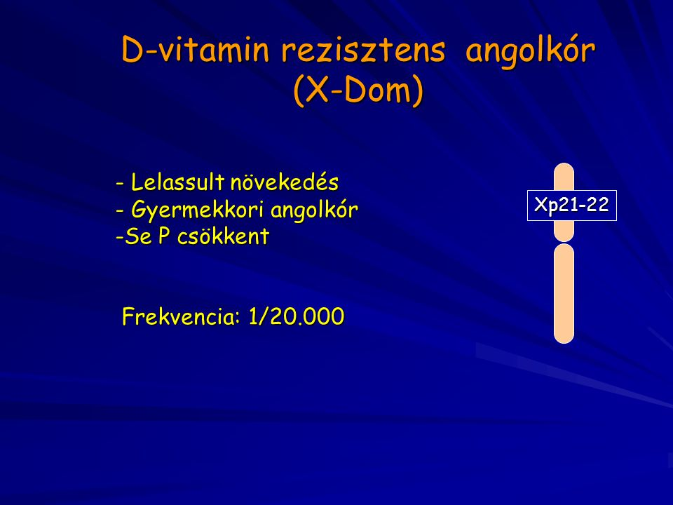 D-vitamin rezisztens angolkór