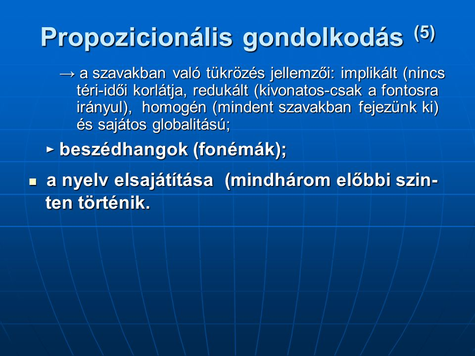 Propozicionális gondolkodás (5)