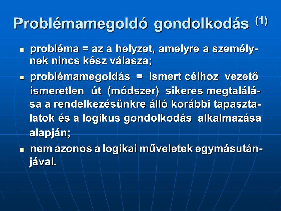 Problémamegoldó gondolkodás (1)