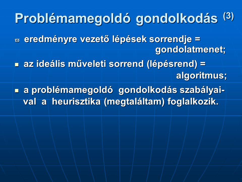 Problémamegoldó gondolkodás (3)