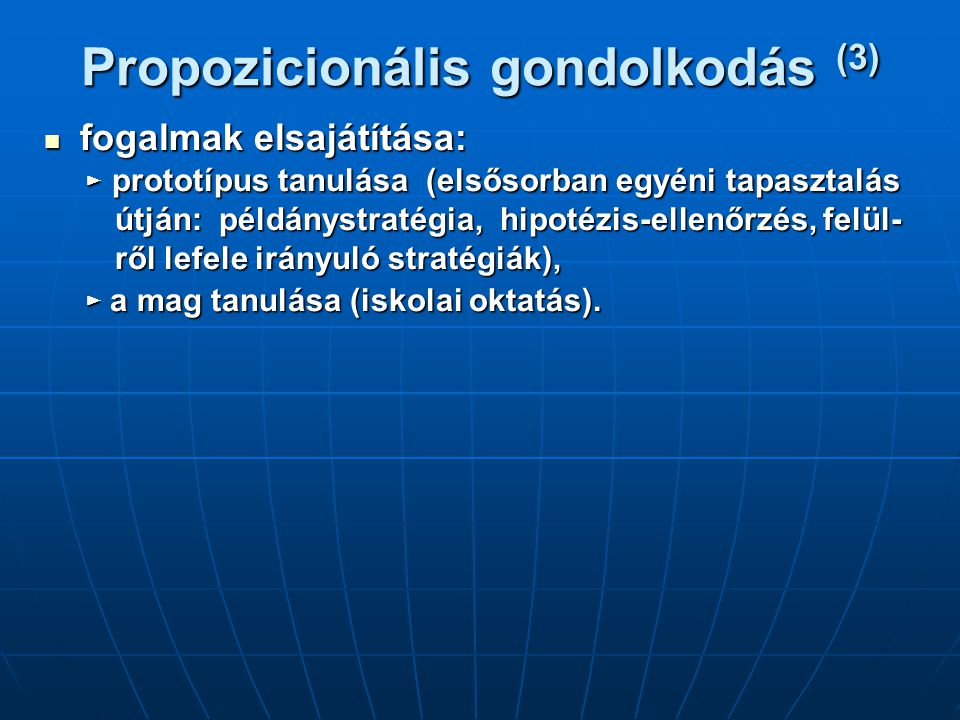 Propozicionális gondolkodás (3)
