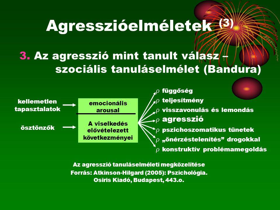 Agresszióelméletek (3)