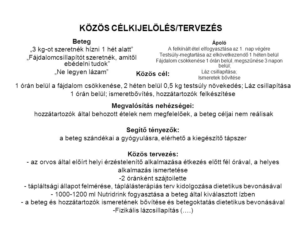 KÖZÖS CÉLKIJELÖLÉS/TERVEZÉS