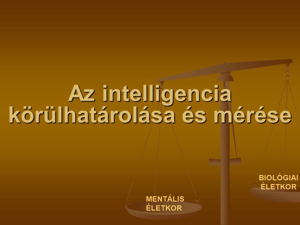Az intelligencia körülhatárolása és mérése