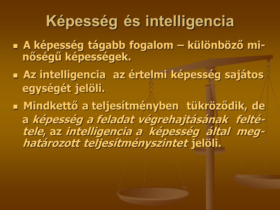 Képesség és intelligencia