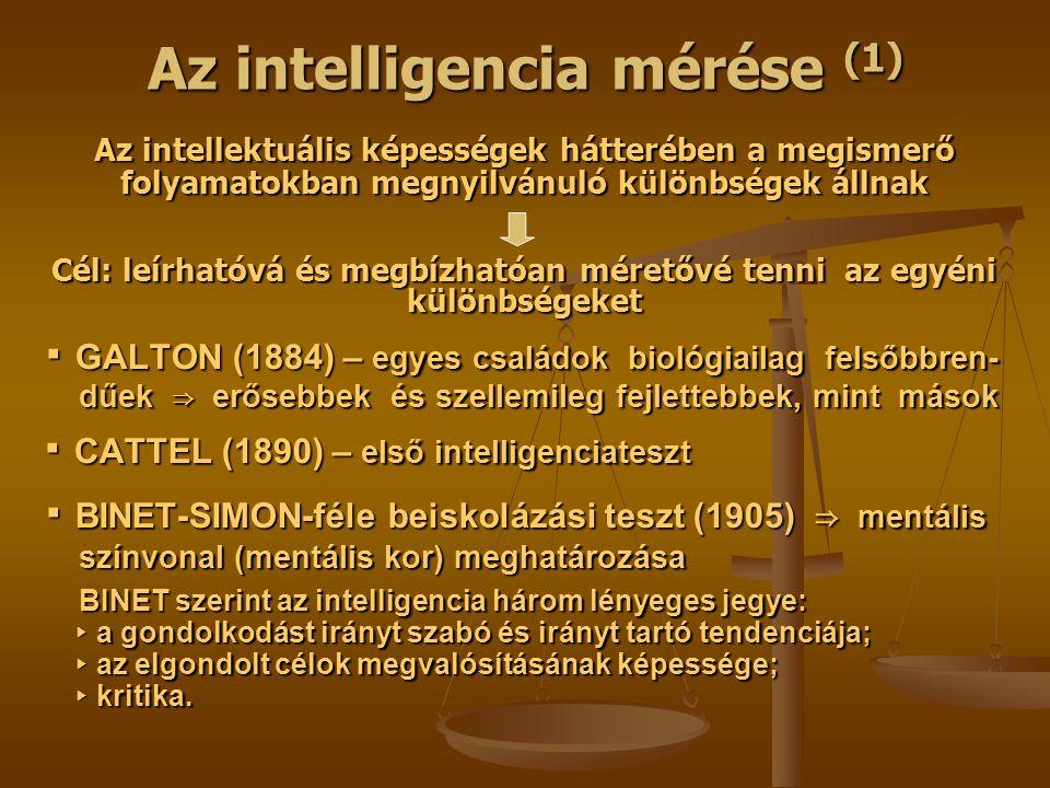 Az intelligencia mérése (1)