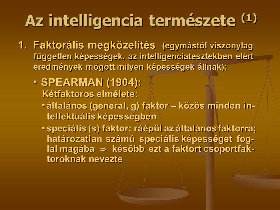 Az intelligencia természete (1)