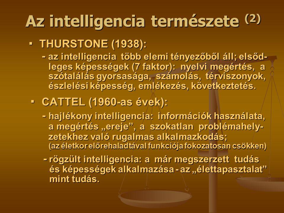 Az intelligencia természete (2)