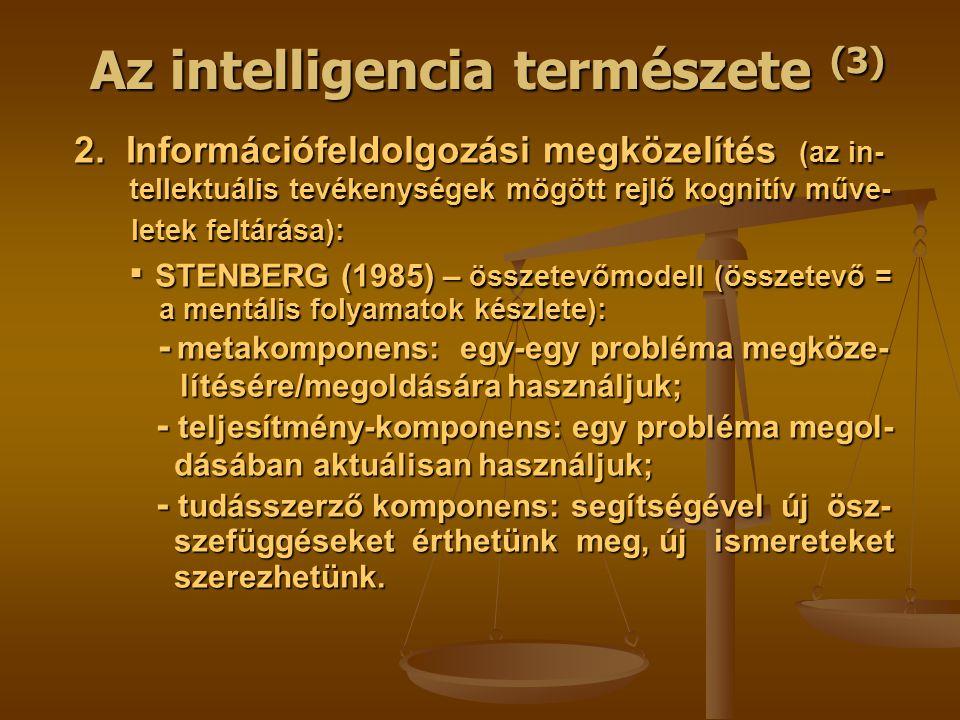 Az intelligencia természete (3)