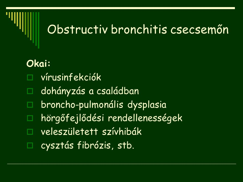 Obstructiv bronchitis csecsemőn