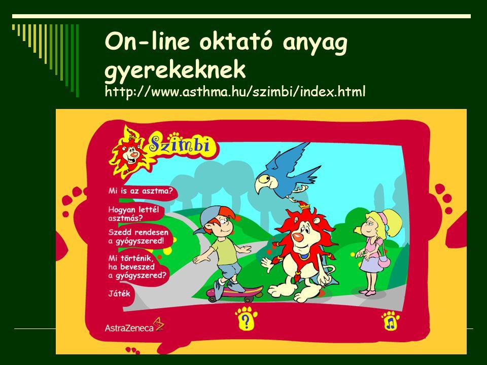 On-line oktató anyag gyerekeknek http://www. asthma. hu/szimbi/index