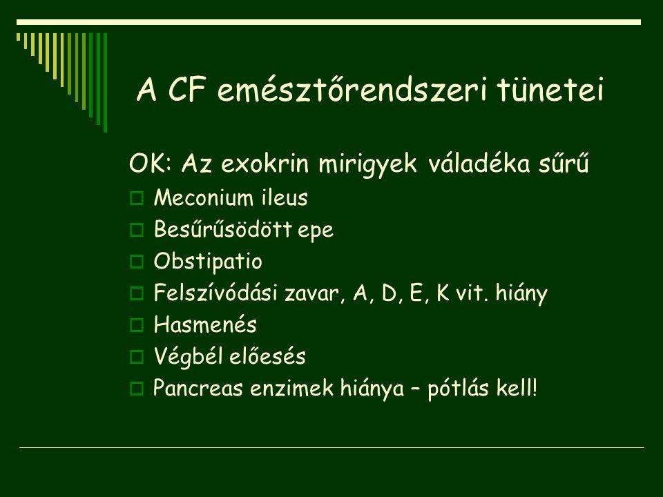 A CF emésztőrendszeri tünetei
