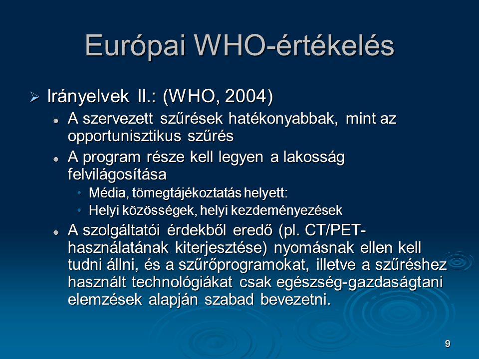 Európai WHO-értékelés