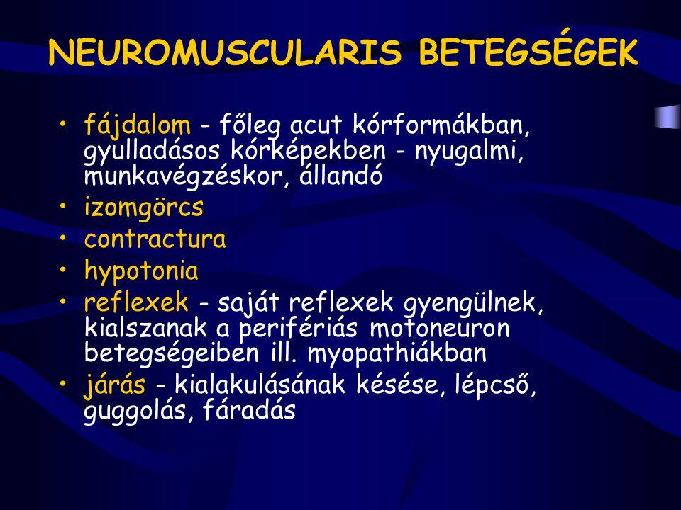 NEUROMUSCULARIS BETEGSÉGEK