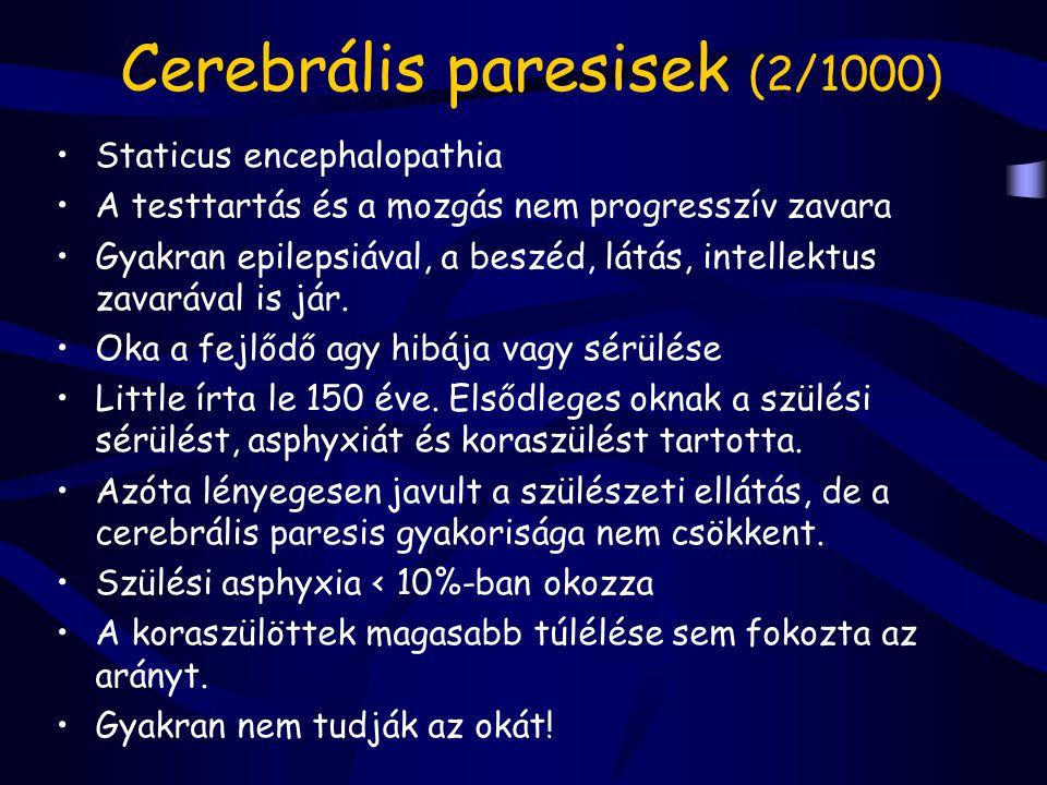 Cerebrális paresisek (2/1000)