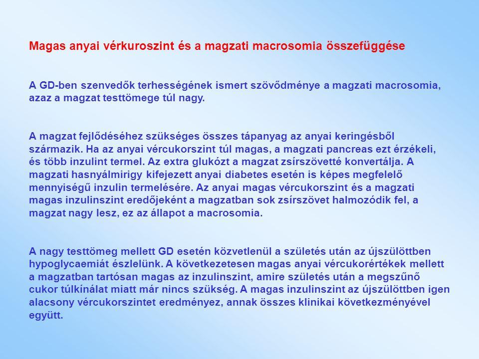 Magas anyai vérkuroszint és a magzati macrosomia összefüggése