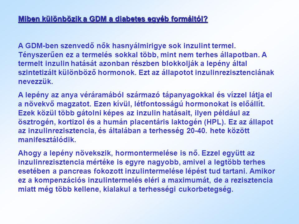 Miben különbözik a GDM a diabetes egyéb formáitól