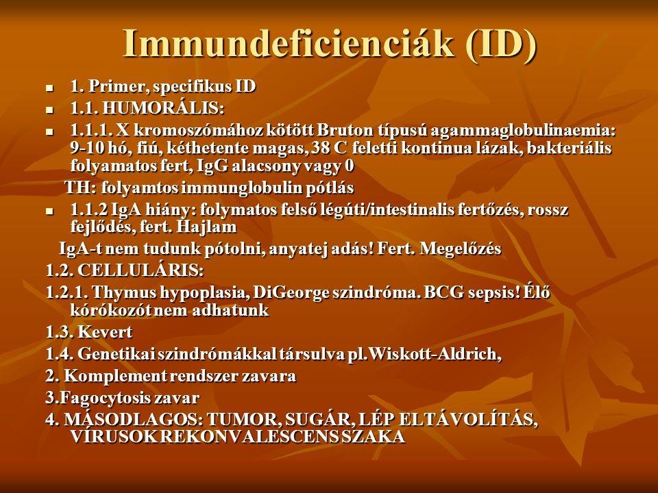 Immundeficienciák (ID)