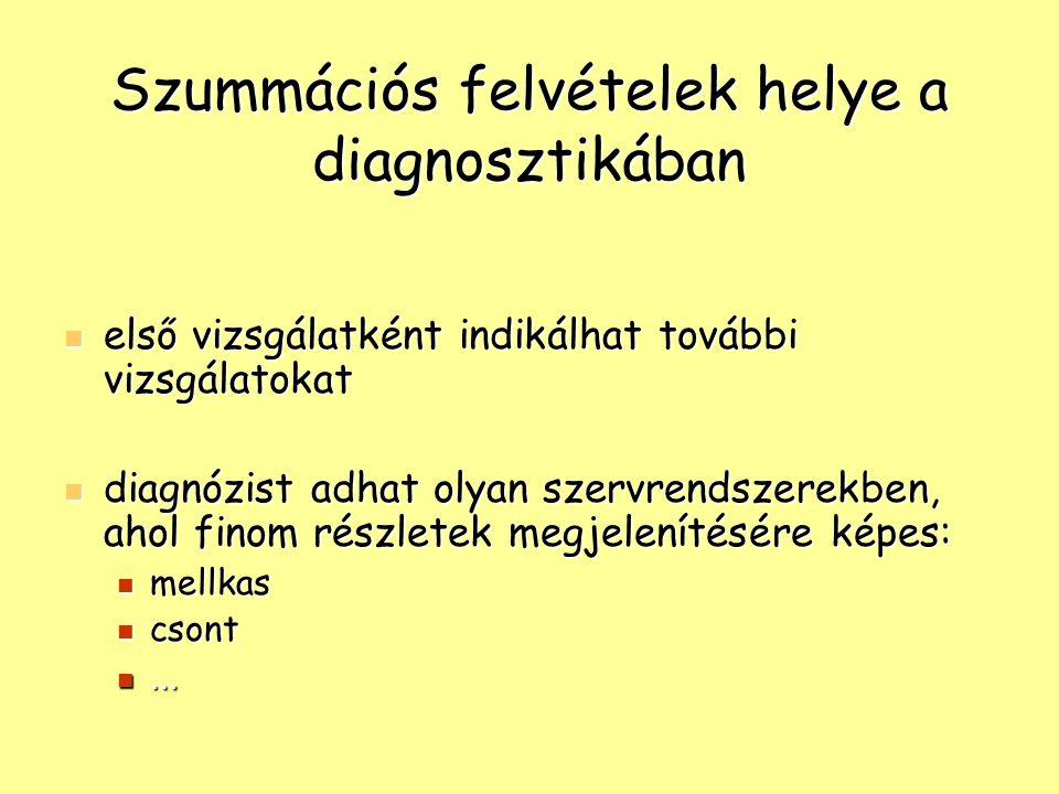Szummációs felvételek helye a diagnosztikában