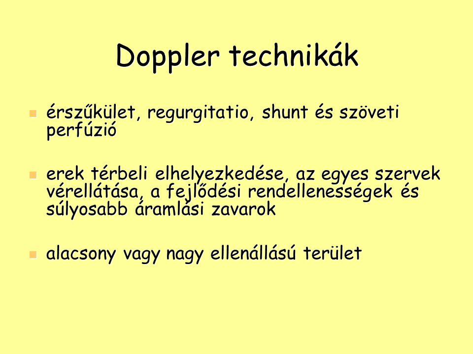 Doppler technikák érszűkület, regurgitatio, shunt és szöveti perfúzió