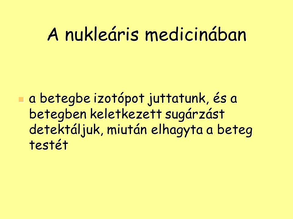 A nukleáris medicinában