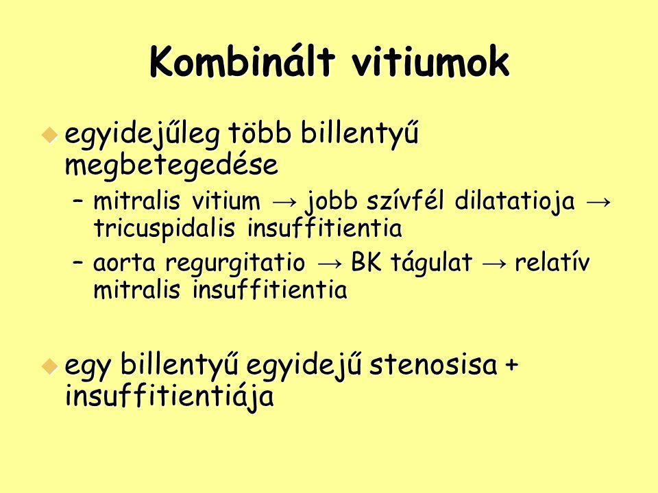 Kombinált vitiumok egyidejűleg több billentyű megbetegedése