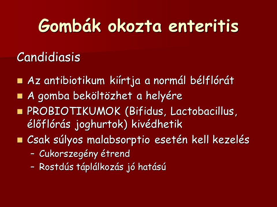Gombák okozta enteritis