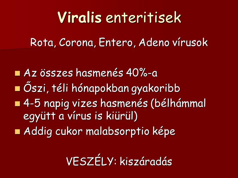 Rota, Corona, Entero, Adeno vírusok