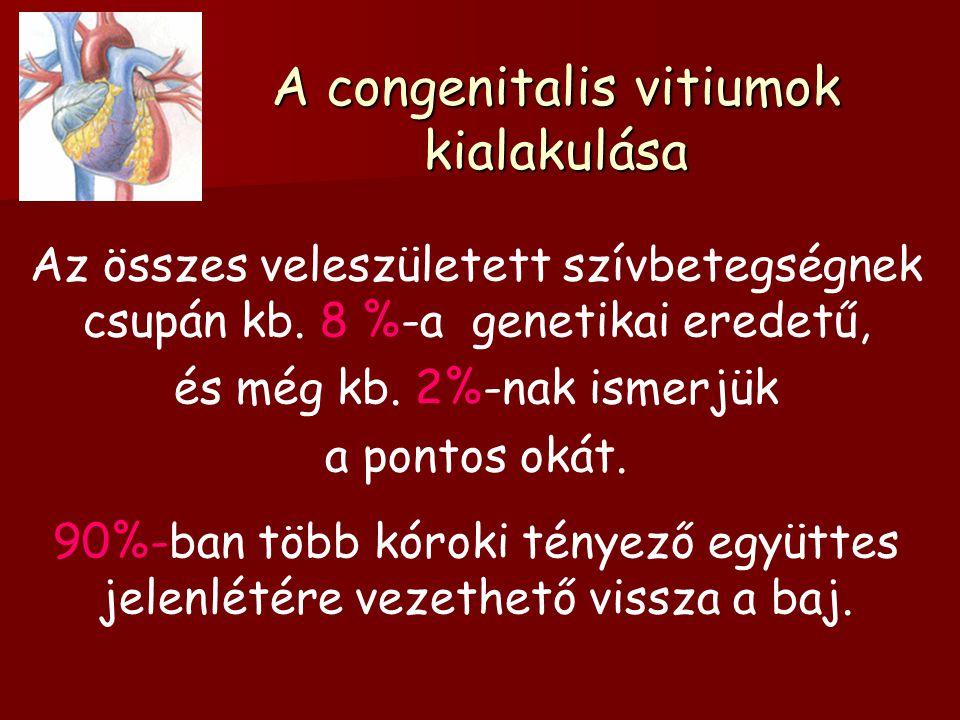 A congenitalis vitiumok kialakulása