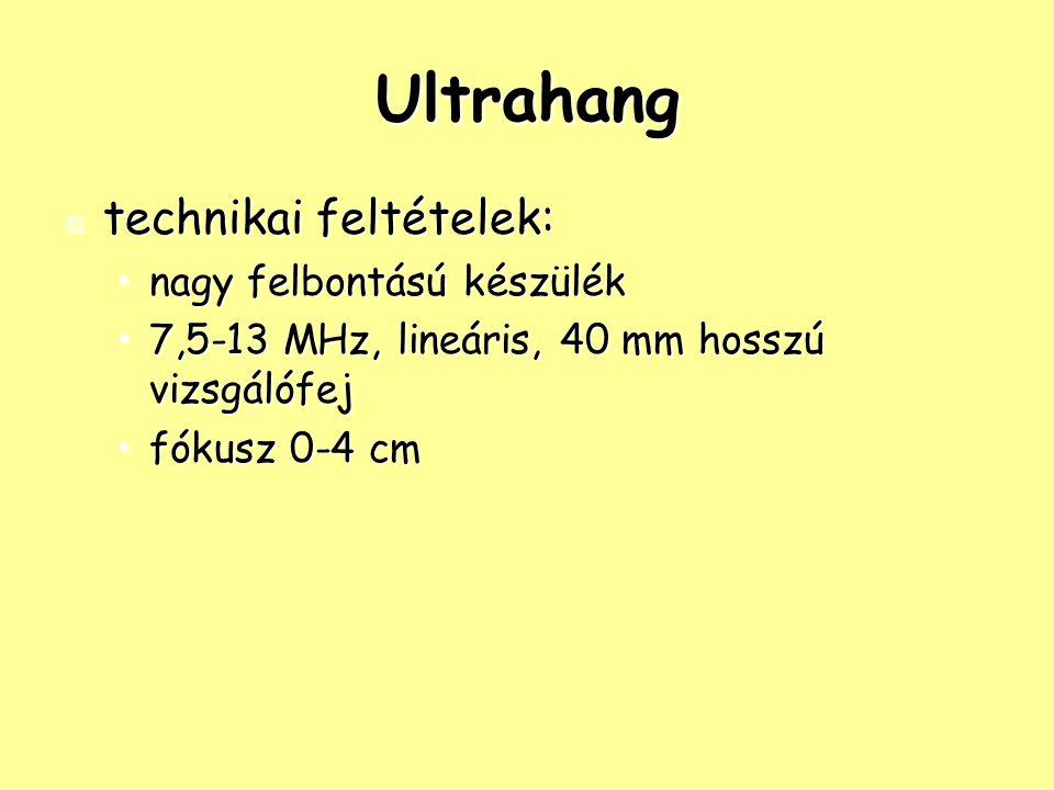 Ultrahang technikai feltételek: nagy felbontású készülék