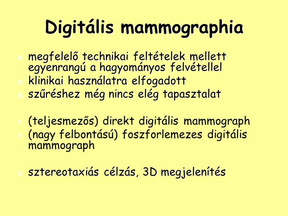 Digitális mammographia