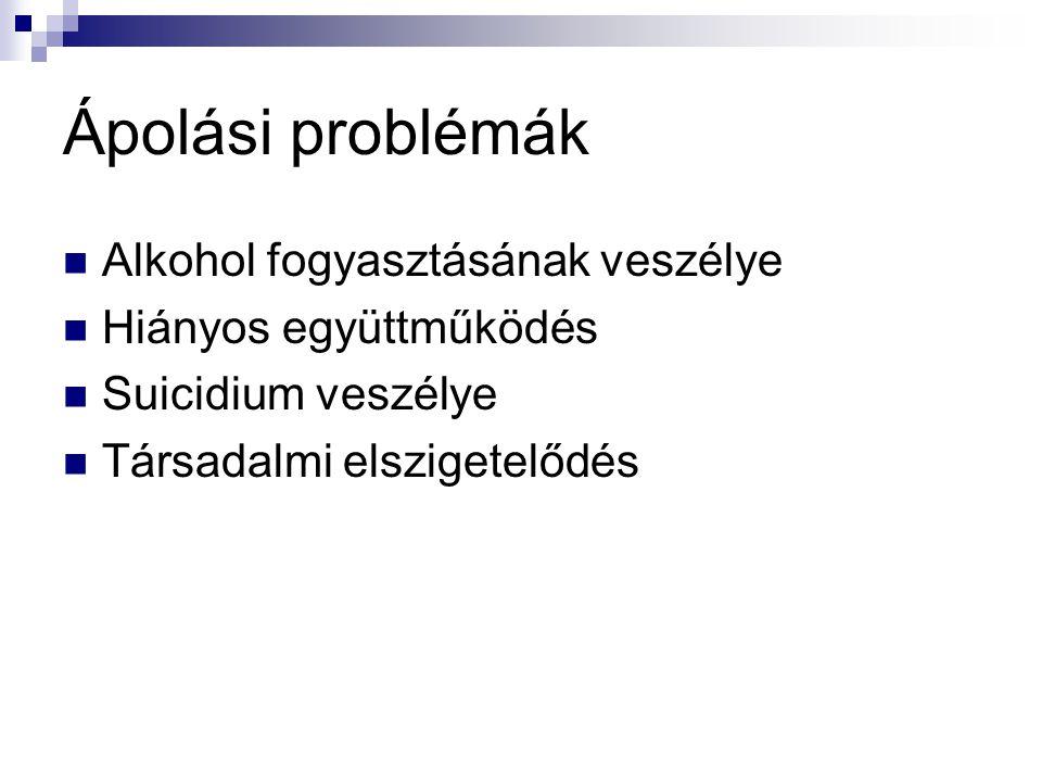 Ápolási problémák Alkohol fogyasztásának veszélye