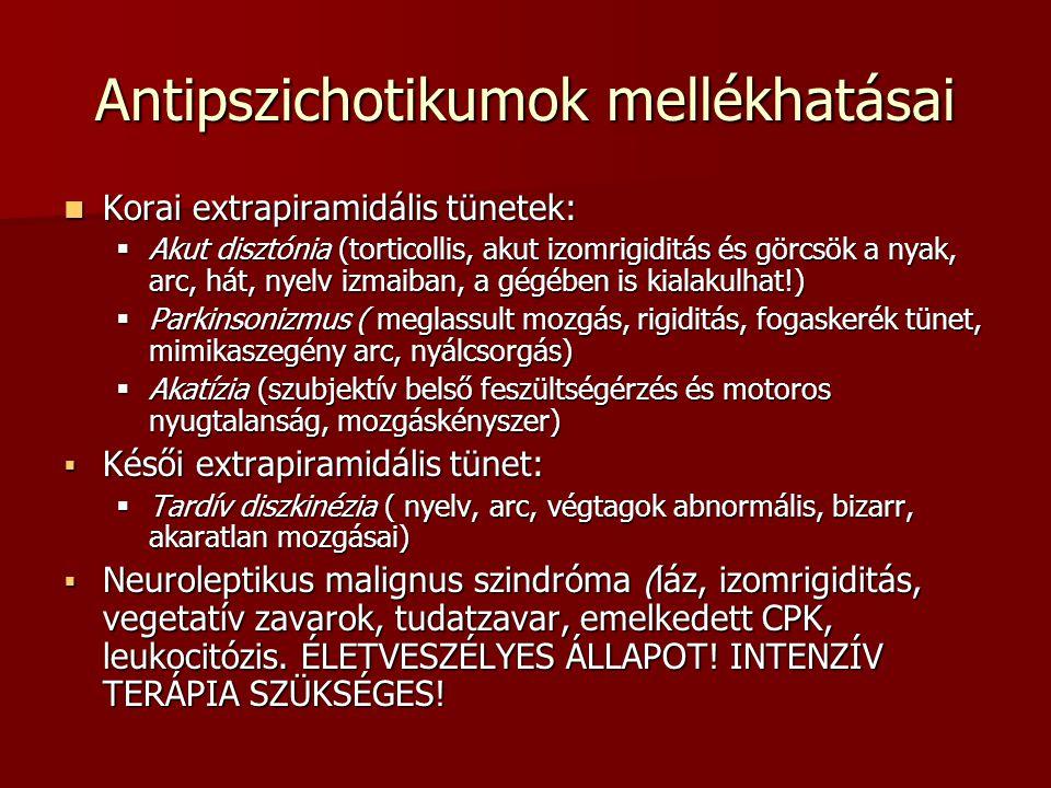 Antipszichotikumok mellékhatásai