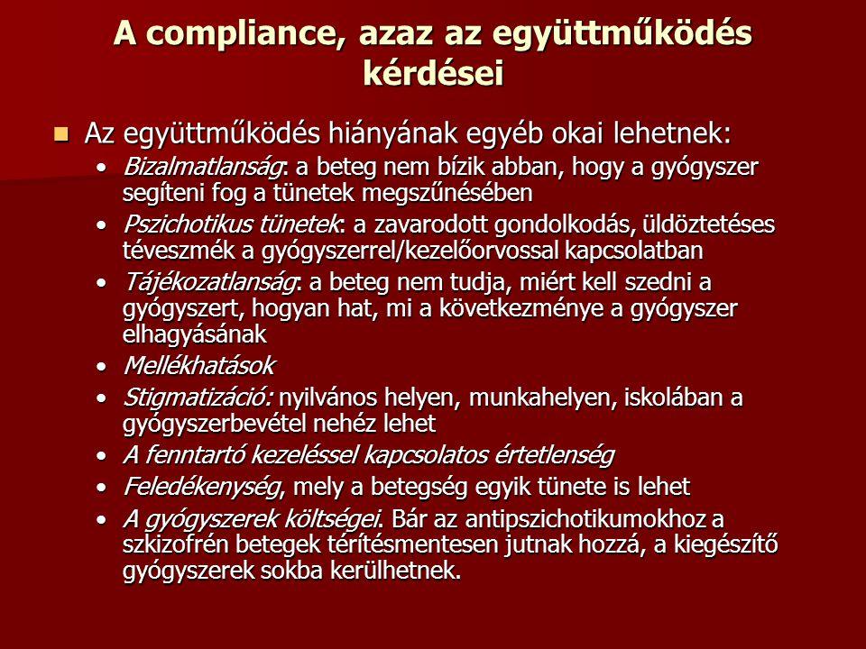 A compliance, azaz az együttműködés kérdései