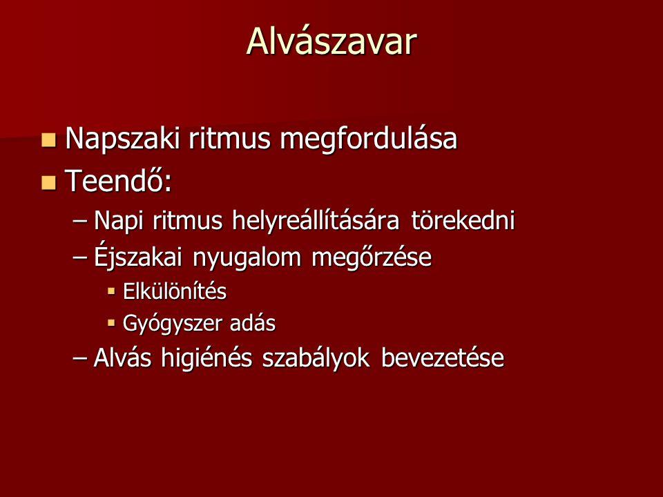 Alvászavar Napszaki ritmus megfordulása Teendő: