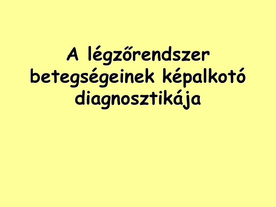 A légzőrendszer betegségeinek képalkotó diagnosztikája