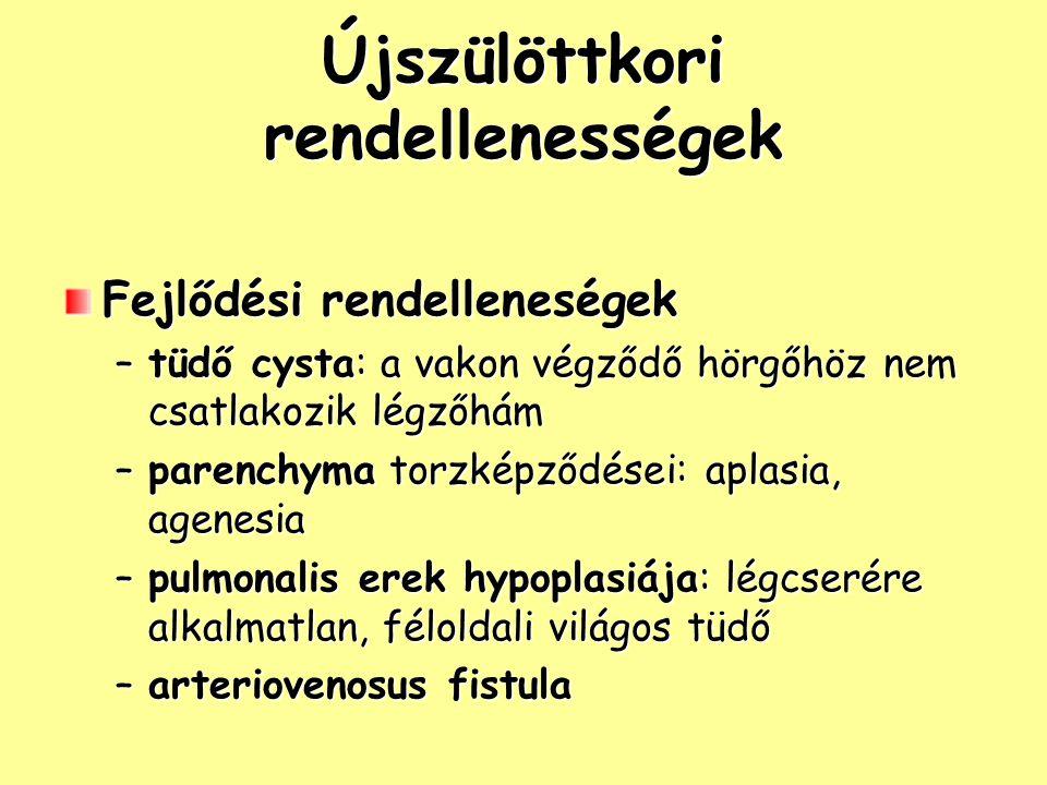 Újszülöttkori rendellenességek