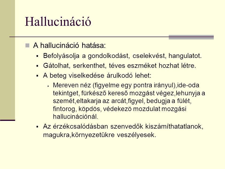 Hallucináció A hallucináció hatása: