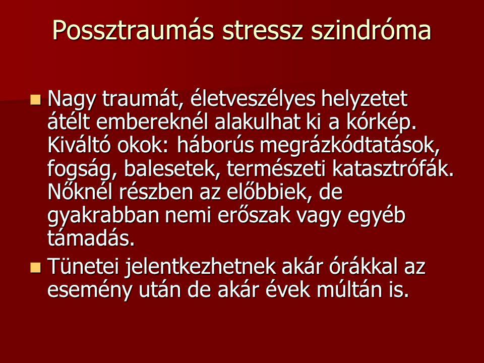 Possztraumás stressz szindróma