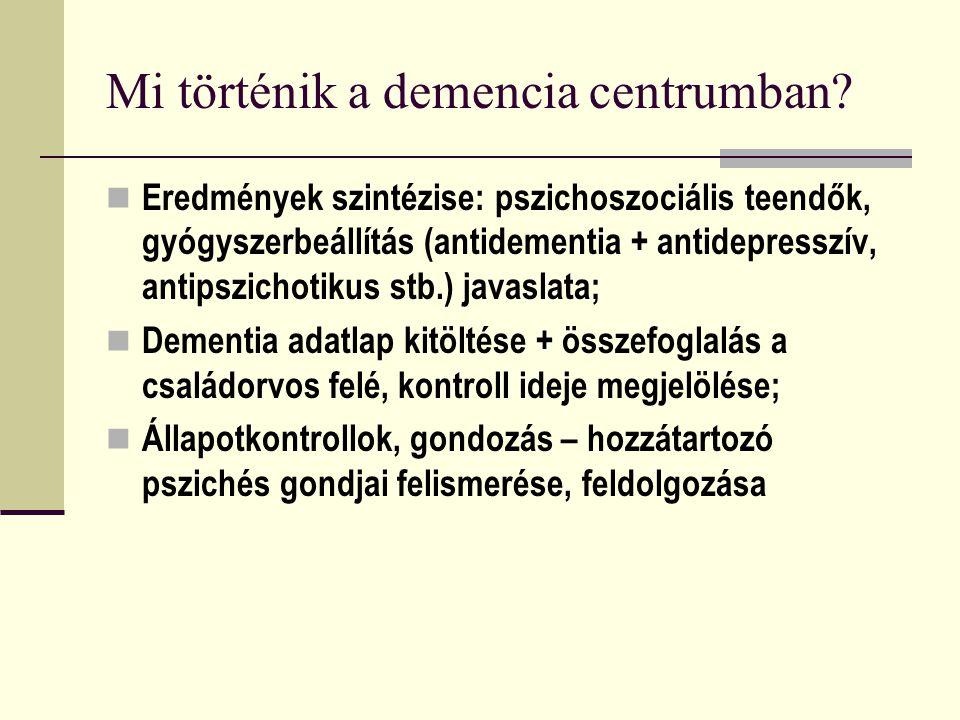 Mi történik a demencia centrumban