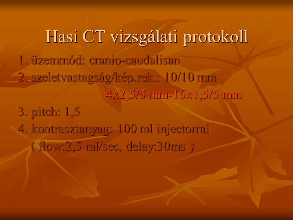 Hasi CT vizsgálati protokoll