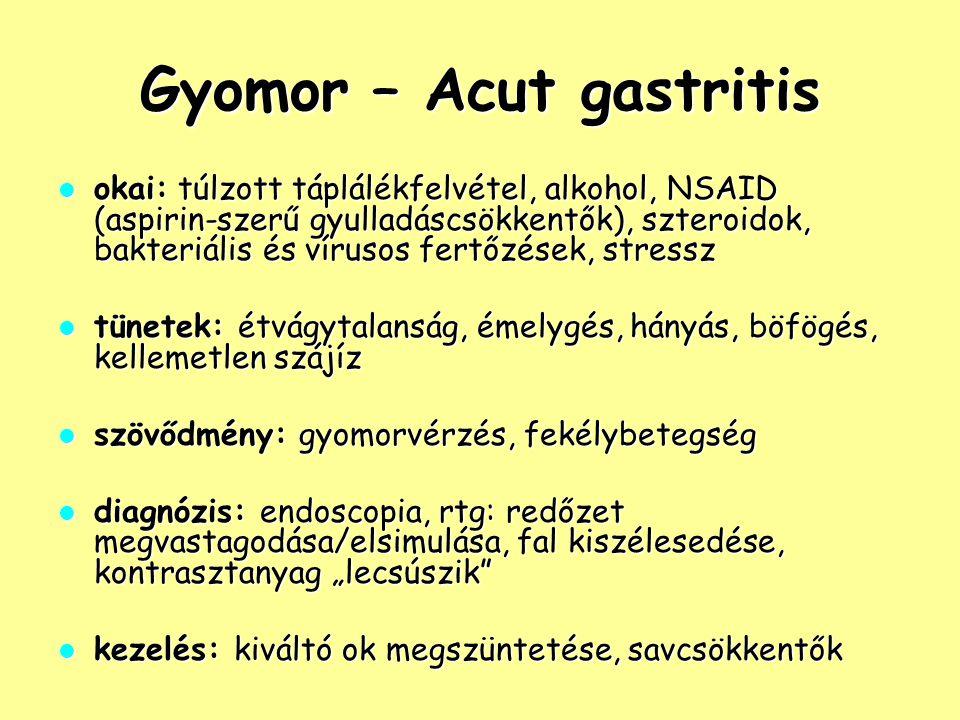 Gyomor – Acut gastritis